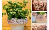 Ксения 68 - Цветочные горшки с розами из пластики