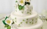 Ксения 68 - Цветы шиповника для украшения праздничных тортов из мастики. МК