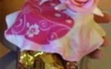 Ксения 68 - Украшаемя баночку салфеткой и розами из ХФ. Видео мастер класс