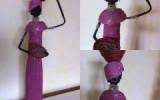 Ксения 68 - Статуэтки девушек Африканок из газетной лозы. МК