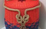 Ксения 68 - Использование толстой веревки в изделиях из газетных трубочек