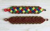 Ксения 68 - Браслет в технике макраме из шнурка и бусин