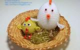 Ксения 68 - Курочка и цыпленок из бисера