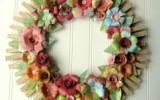 Ксения 68 - Новогодние венки из деревянных прищепок