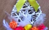 Ксения 68 - Панно к Пасхе из газетных трубочек в виде яйца. МК