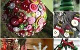 Ксения 68 - Ёлки, новогодние венки, снежинки и шары из пуговиц