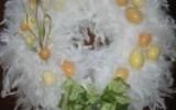 Ксения 68 - Нежные Пасхальные венки из перьев и ватных дисков и еще много идей