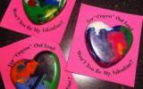 Ксения 68 - Валентинки с сердцем из восковых мелков