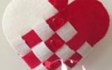 Ксения 68 - Сердечко из грубой ткани к дню Святого Валентина