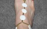 Ксения 68 - Браслет из бусин на ногу
