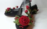 Ксения 68 - Шикарные туфли с цветами ручной работы