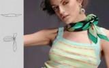 Ксения 68 - Как завязать платок на шее