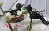 Ксения 68 - Птички в гнезде из мастики
