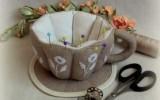 Ксения 68 - Чайная пара из ткани. МК