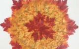 Ксения 68 - Салфетка из искусственных кленовых листьев