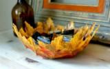 Ксения 68 - Ваза-конфетница из искусственных листьев