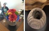 Ксения 68 - Креативная ваза из толстого войлока. Фото МК