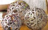 Ксения 68 - Декоративные шары из газетных трубочек