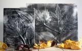 Ксения 68 - Панно из листьев и фольги