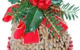 Ксения 68 - Колокол из цветочного горшка и шишек.МК