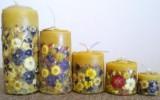 Ксения 68 - Свечи ручной работы с сухоцветами и не только.МК