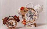 Ксения 68 - Часы из бобинки от скотча и газетной лозы. Два мастер класса
