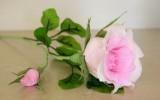 Ксения 68 - Роза с бутоном из гофрированной бумаги