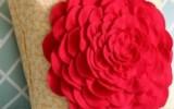 Ксения 68 - Украшение подушки объемным цветком