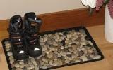 """Ксения 68 - Коврик для дома """"анти-дождь"""" с использованием морских камней."""
