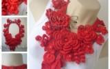 Ксения 68 - Потрясающие украшения из вязаных цветов