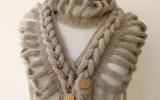 Ксения 68 - Шикарный шарф (вязание спицами)