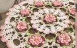 Ксения 68 - Очень красивые салфетки с объемными цветами. МК и схема