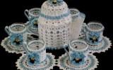 Ксения 68 - Салфетка крючком с чайником и чашками