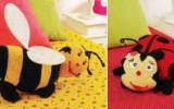 Ксения 68 - Детские подушки-игрушки крючком и пуфик Панда. Схемы
