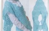 Ксения 68 - Голубой жилет из мотивов. Описание.Схемы