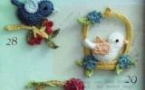 Ксения 68 - Птички крючком: на ветке, в клетке, в корзинке