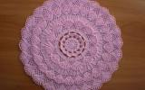 Ксения 68 - Ажурный коврик крючком на основе салфетки