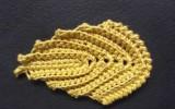 Ксения 68 - Вязание рельефного листка.Ирландское кружево.МК