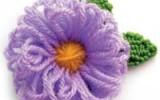 Ксения 68 - Цветок из пряжи. МК