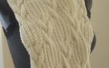 Ксения 68 - Красивый шарф с косами.Вязание спицами.Схема