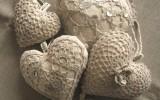 Ксения 68 - Сердечки из ткани обвязаные крючком