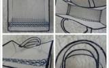 Ксения 68 - Сумка из пластиковой канвы, обвязанная крючком.