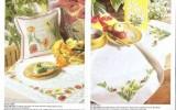 Ксения 68 - Цветочные скатерти. Вышивка крестом. Схемы
