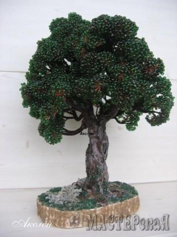 Дерево дуб из бисера мастер класс с пошаговым