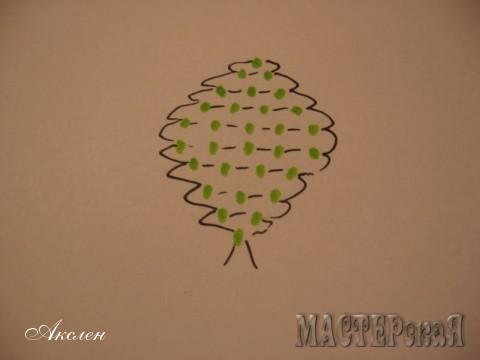 Чашелистик состоит из пяти лепестков, длинна проволоки примерно 30см, бисер зеленого цвета