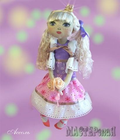 Куколка сделана на заказ для 5-летней девочки Насти))