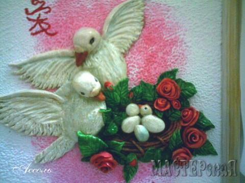 Картину из соленого теста подарила сестре на свадьбу)))