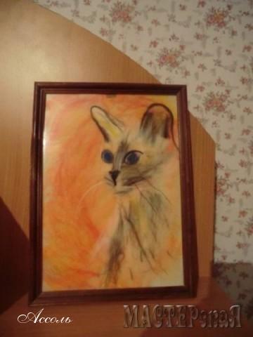 Картина из акриловой пряжи (ну, не было у меня шерсти...)