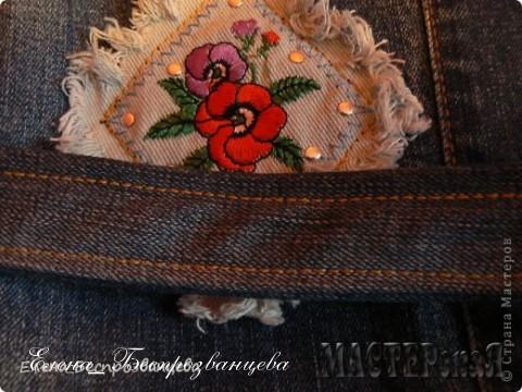 Отстрочка фирменными джинсовыми нитками Гуттерман - и название красивое, и качество хорошее - 100% полиамид:))