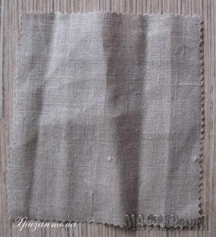 размер7х24 см.Эта ткань плотная,через неё трава сыпаться не будет-поэтому лучше взять именно лён.